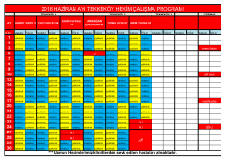 haziran 2016 tekkeköy polikliniği hekim çalışma planı