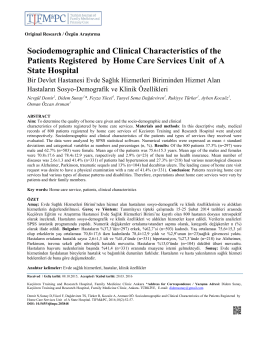 Sociodemographic and Clinical Characteristics of the Patients