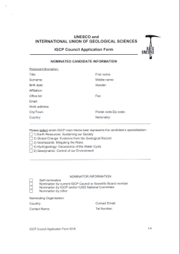 IGCP Council Application Form