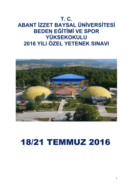 2016 kitapcık - Abant İzzet Baysal Üniversitesi