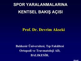 Prof. Dr. Devrim AKSEKİ