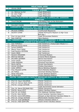 Protokol Listesinin PDF Halini Görmek için Tıklayınız..