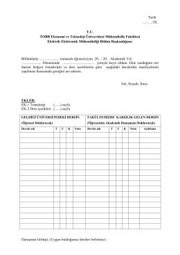 pamukkale üniversitesi - TOBB Ekonomi ve Teknoloji Üniversitesi