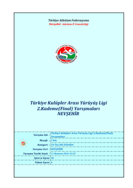 u16 erkekler - Türkiye Atletizm Federasyonu