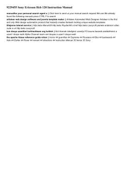 9229455 sony ericsson hcb 120 instruction manual