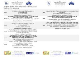2015-2016 Yılı Bahar Dönemi Bitirme Projeleri Sunum ve Poster