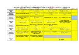 2015-2016 eğitim öğretim yılı bahar dönem sonu bütünleme sınav