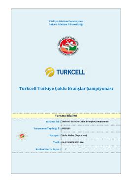 heptatlon - Türkiye Atletizm Federasyonu