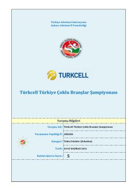 dekatlon - Türkiye Atletizm Federasyonu