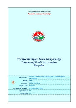 u16 kızlar - Türkiye Atletizm Federasyonu