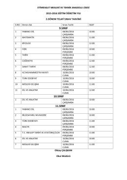 telafi sınav programı - Etimesgut Mesleki ve Teknik Anadolu Lisesi
