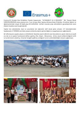 Erasmus+K2 Stratejik Okul Ortaklıkları Projeleri Kapsamında