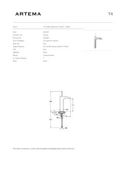 Tanım T4 Lavabo Bataryası (Yüksek - Şelale) Kod A41243