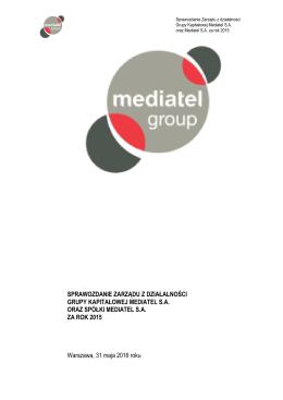 GK Mediatel sprawozdanie z dzialalnosci 2015