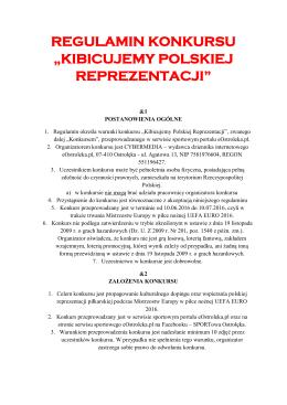 """regulamin konkursu """"kibicujemy polskiej reprezentacji"""""""