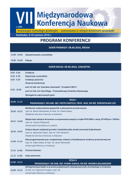 program konferencji wsi