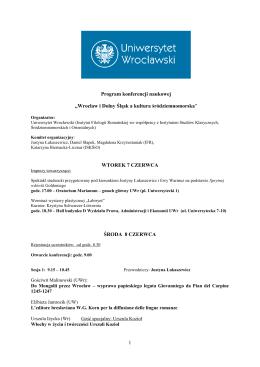 PROGRAM KONFERENCJI (plik PDF do pobrania)