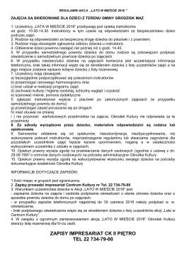 zapisy impresariat ck ii piętro tel 22 734-79-00