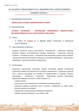 ramowa agenda - Śląska Izba Budownictwa