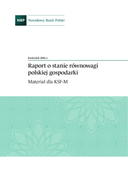 Raport o stanie równowagi polskiej gospodarki