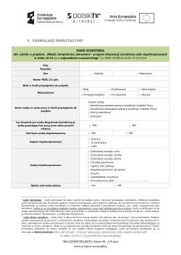 3. formularz rekrutacyjny - A