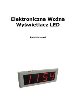 Elektroniczna Wozna Wyswietlacz LED