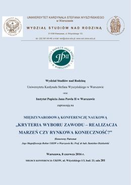 pobierz - Uniwersytet Kardynała Stefana Wyszyńskiego w Warszawie