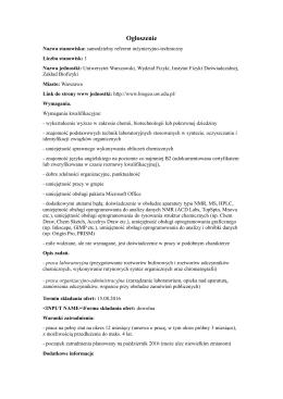 Pracownik inżynieryjno-techniczny, Zakład Biofizyki