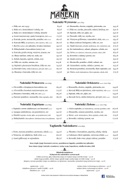 menu - Manekin