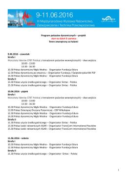 1 Program pokazów dynamicznych – projekt stan na dzień 6