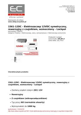 1561-12DC - Elektrozaczep 12VDC symetryczny - sklep