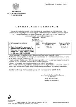 Obwieszczenie o licytacji (plik PDF 399 KB)