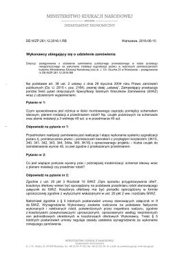 DE-WZP.261.12.2016.RB - odpowiedzi na pytania z dnia 8.06.2016 r.