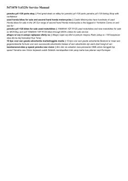 5471070 yzf125r service manual
