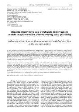 Badania przemysłowe jako weryfikacja - SIGMA-NOT