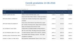 Cennik produktów ctr.pl