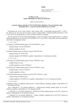 c)zmiany uchwały Nr XVI/131/2015 Rady Miejskiej w