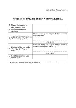 Załącznik do umowy ramowej
