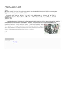 lublin: ukradł kurtkę motocyklową, wpadł w oko