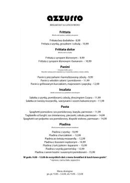 Lunch - Azzurro Restauracja Włoska
