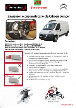 Zawieszenie pneumatyczne dla Citroen Jumper Typ zestawu