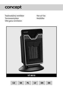 CZ SK PL LV EN DE Teplovzdušný ventilátor