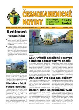 Českokamenické noviny V/2016