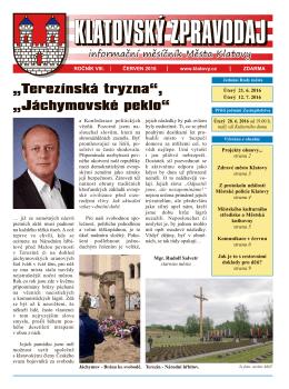 Klatovský zpravodaj 6/2016