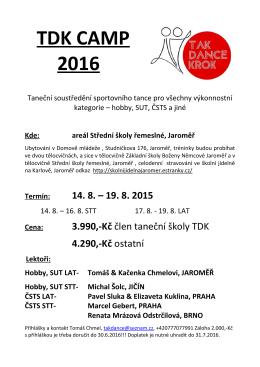 TDK Camp 2016 Jaroměř