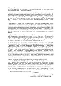 Reakce a odpovědi na dopis JUDr. Čeněka Šrubaře