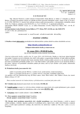 USNESEN Í – dražební vyhláška- 10. srpna - Úřední deska
