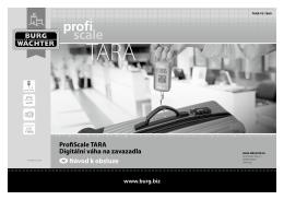 ProfiScale TARA Digitální váha na zavazadla cz