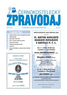 ix. ročník koncertů hudební potkávání v kostelci n. č. l.