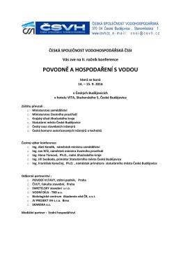 zde - ČSVH - Česká společnost vodohospodářská